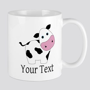 Personalizable Black and White Cow Mugs