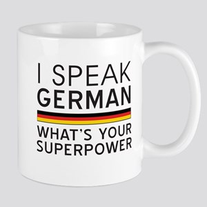 I speak German what's your superpower Mugs