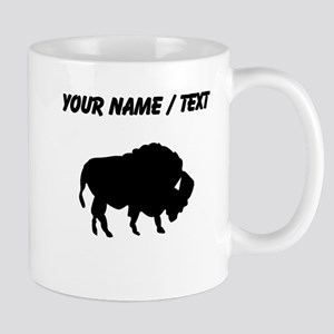 Custom Bison Silhouette Mugs