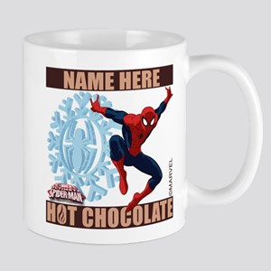 Personalized Holiday Spider-Man Mugs