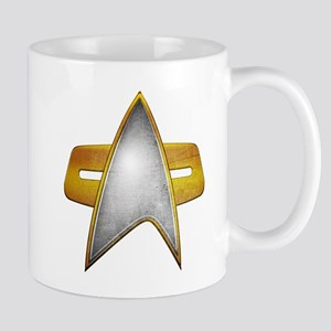 Distressed Starfleet Comm Badge Mug