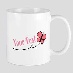 Personalizable Pink Butterfly Mugs