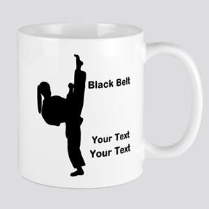 Black Belt Kick 11 oz Ceramic Mug