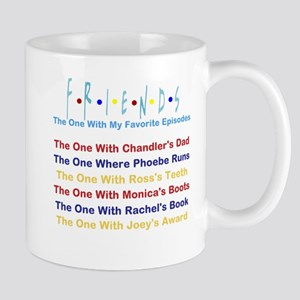 Friends TV Show Favorite Episodes Mugs