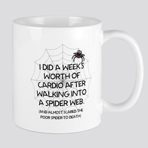 I DID A WEEKS WORHT OF CARDIO - SPIDER WEB Mugs