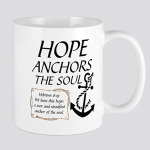 HOPE ANCHORS THE SOUL Mugs