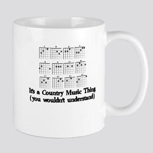 GUITAR CHORDS - IT'S A COUNTRY MUSIC THING Mugs
