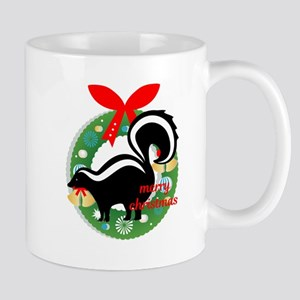merry christmas skunk Mugs