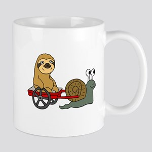 Snail Pulling Wagon with Sloth Mugs