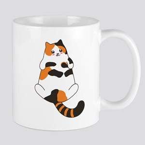 Kawaii Calico Lying Cat Mugs