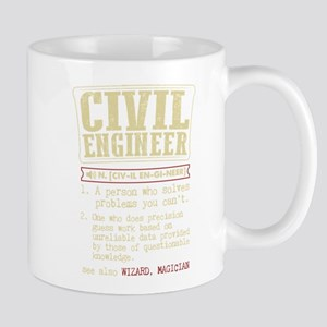 Civil Engineer Dictionary Term T-Shirt Mugs