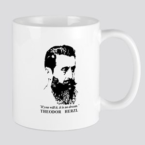 Theodor Herzl - Israel Quote Mugs
