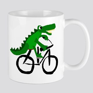 Alligator Riding Bicycle Mug