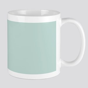 minimalist mint green blue Mugs
