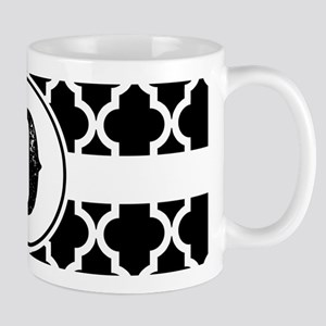 Black Monogram: Letter D 11 oz Ceramic Mug