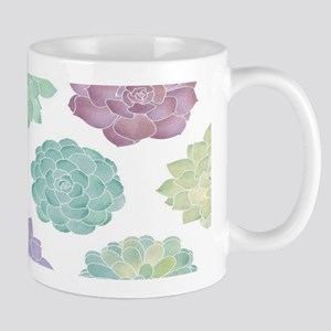 Watercolor Succulent Garden 11 oz Ceramic Mug