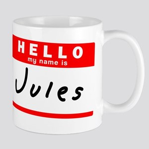 Jules Nametag Mugs Cafepress