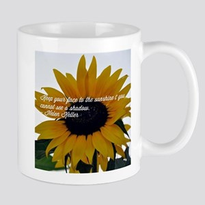 Helen Keller Sunflower Quote Mugs