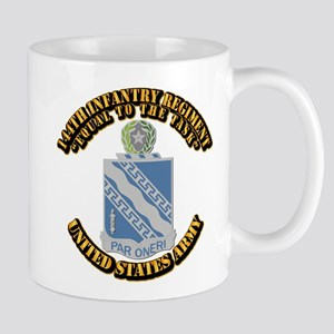 DUI - 144th Infantry Regiment with Text Mug