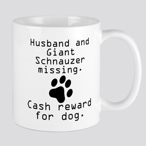 Husband And Giant Schnauzer Missing Mugs