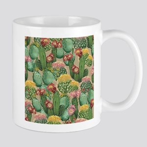 Assorted Blooming Cactus Plants Mugs