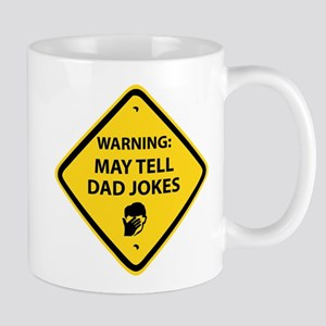 WARNING: DAD JOKES 11 oz Ceramic Mug