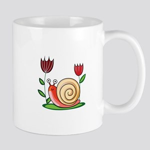 SNAIL AND FLOWERS Mugs