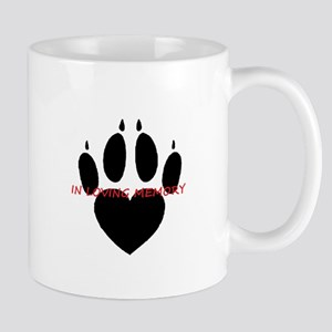 in loving memory dog black Mugs