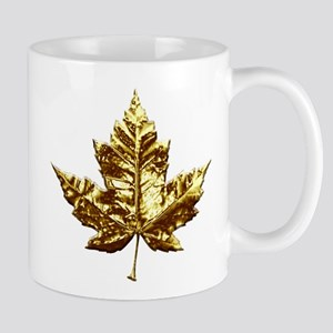 Canada Mug Gold Maple Leaf Coffee Cup Stylish Gift