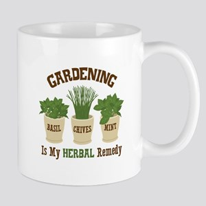 GARDENING IS MY HERBAL Remedy Mugs