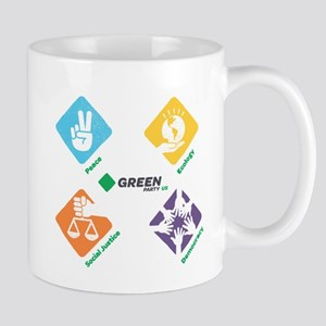 Green Party 4 Pillars Mugs