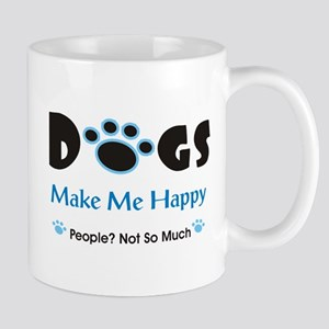 Dogs Make Me Happy 2 Mugs