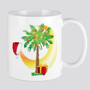 Christmas SC Palmetto Moon Flag Mug
