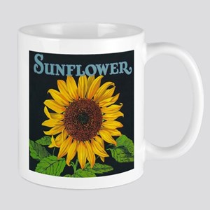 Sunflower Vintage Art Poster Mugs