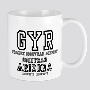 AIRPORT CODES - GYR - PHOENIX GOODYEAR, ARIZO Mugs