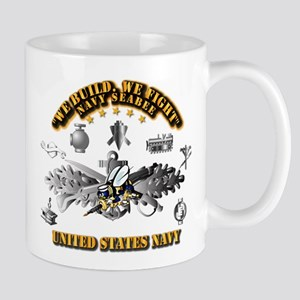 Navy - Seabee - Badge Mug
