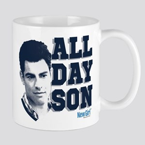 New Girl All Day Son Mug