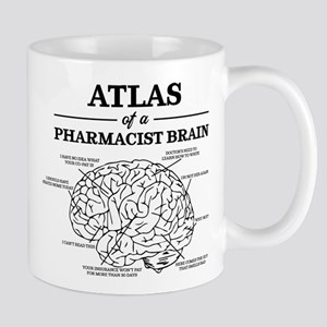 Atlas of a Pharmacist Brain 11 oz Ceramic Mug