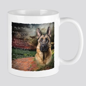 """Why God Made Dogs"" GSD Mug"