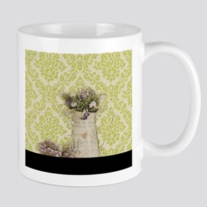 western country lavender damask Mugs