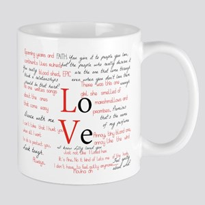 LoVe Quoted 11 oz Ceramic Mug