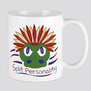 Split Personality Orange Blue Garnet Gold Mugs