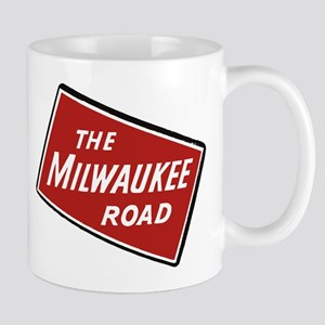 Milwaukee Road logo- slanted Mugs