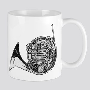 Steampunk French Horn Mugs