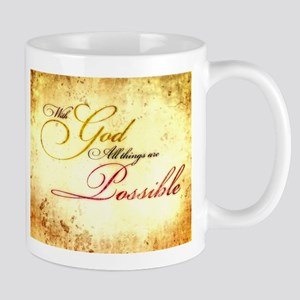 with god gold vintage Mug