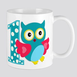 First Birthday Happy Owl Mug