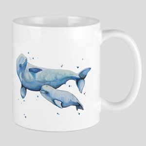 Beluga Whale and Baby Mugs