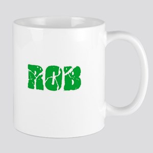 Rob Name Weathered Green Design Mugs