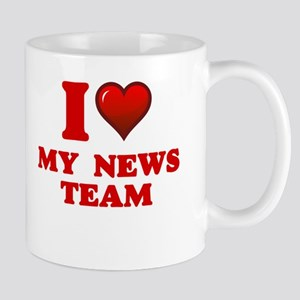 I Love My News Team Mugs