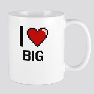 I Love Big Digitial Design Mugs